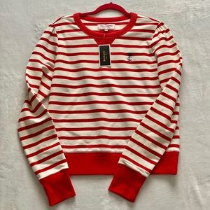 Juicy Couture Breton Stripe Long Sleeve Pullover